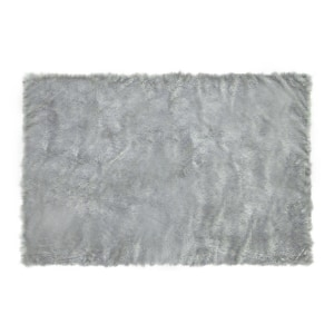 GLERRY HOME DECOR KARPET BULU SQUARE GREY 100X150 CM