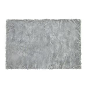GLERRY HOME DECOR KARPET BULU SQUARE GREY 300X150 CM