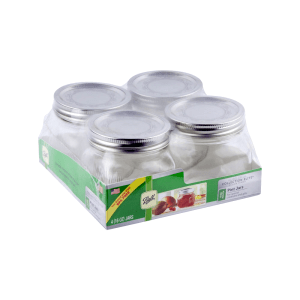 BALL SET TOPLES MASON PLATINUM HALF PINT 473 ML 4 PCS