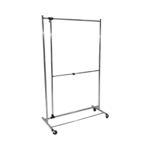 HONEY CAN DO JEMURAN PAKAIAN 2 TIER ADJUSTABLE - SILVER
