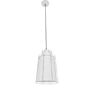 LAMPU GANTUNG METALIK COLE 22 X 110 CM - PUTIH