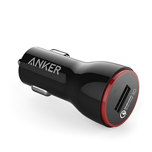 ANKER POWERDRIVE+ 1 CHARGER MOBIL QUICK CHARGER 3 + KABEL MICRO USB