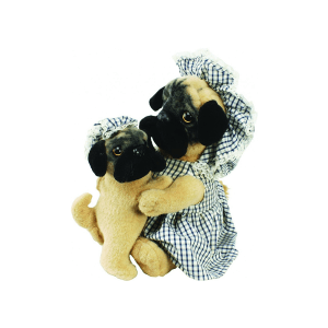 HANSA DOMESTIC DOG MOTHER AND SON 28CM