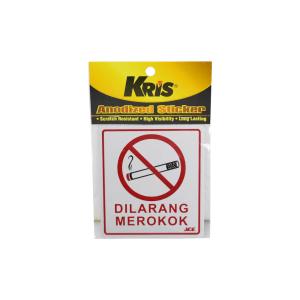 KRIS STIKER ANODIZED 9X10CM - DILARANG MEROKOK