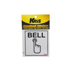 KRIS STIKER ANODIZED 9X10CM - BELL