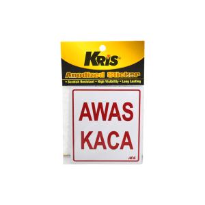 KRIS STIKER ANODIZED 9X10CM - AWAS KACA