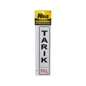 KRIS STIKER ANODIZED 6X20CM - TARIK | PULL