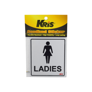 KRIS STIKER ANODIZED 9X10CM - LADIES