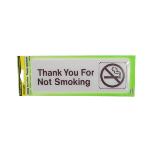 HY-KO STIKER PETUNJUK 7,6X22,8CM - THANK YOU FOR NOT SMOKING