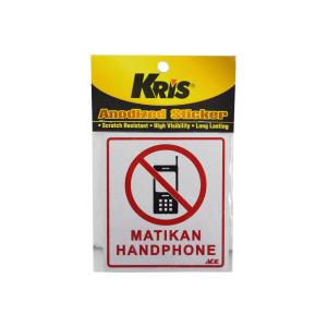 KRIS STIKER ANODIZED 9X10CM - MATIKAN HANDPHONE