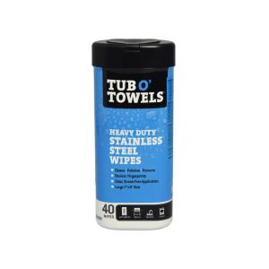 TUB O TOWELS TISU BASAH PEMBERSIH STAINLESS STEEL 40 PCS