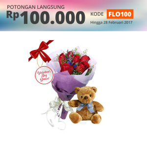 FLOWER ADVISOR BUNGA HAND BOUQUET LOVE BEAR