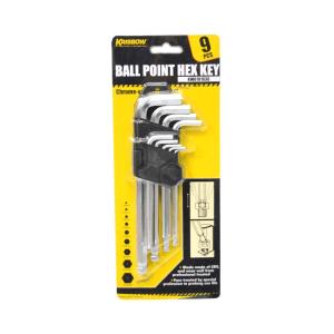 KRISBOW SET KUNCI L BALLPOINT HEX 1,5-10 MM 25 CM 9 PCS