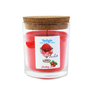 TWILIGHT STRAWBERRY CANDLE JAR - RED