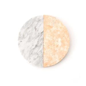 GLERRY HOME DECOR ROUND POUNDRETTEITE - MOONSTONE MARBLE DIAMETER 20CM