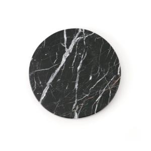 GLERRY HOME DECOR ROUND BLACK ZIRCON MARBLE DIAMETER 20CM