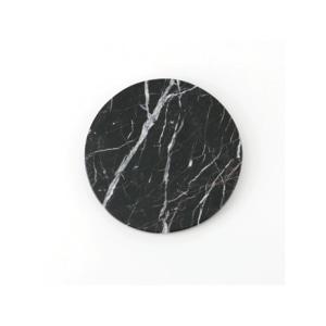 GLERRY HOME DECOR ROUND BLACK ZIRCON MARBLE DIAMETER 12CM