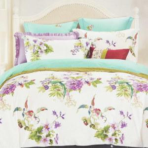 BED COVER HIBISCUS 240X210 CM - UNGU