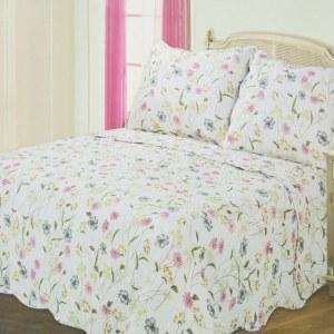 BED COVER 240X210 CM NT184 - PUTIH