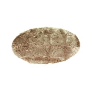 KARPET BULU ARTIFISIAL BUNDAR FAUX FUR 120 CM - COKELAT