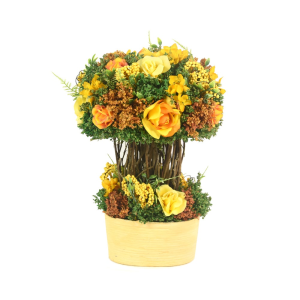 BUNGA ARTIFISIAL MIX 35 CM - KUNING