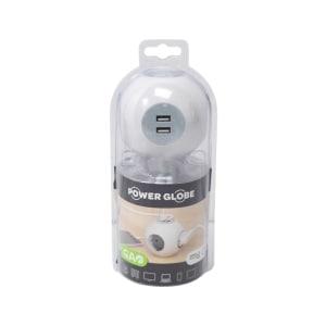 GAO STEKER GOLBE DENGAN 2 SOKET USB