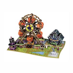 SCHOLAS 3D PUZZLE POP OUT WORLD HALLOWEEN FERRIS WHEEL
