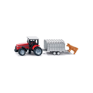SIKU TRACTOR WITH STOCK TRAILER 1640