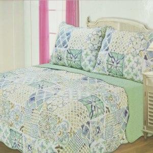 BED COVER 240X210 CM NT359 - BIRU