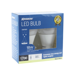 KRISBOW SET BOHLAM LED ECO 18W WARM WHITE 2 PCS