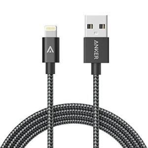 ANKER NYLON BRAIDED USB TO LIGHTNING MFI 3FT/0.9M - GRAY