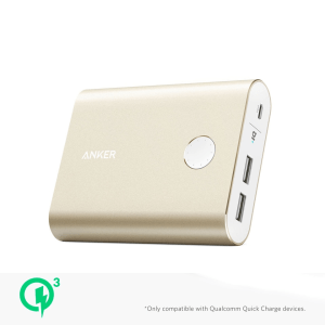 ANKER POWERCORE+ 13400 WITH QUICK CHARGER 3.0 - GOLD