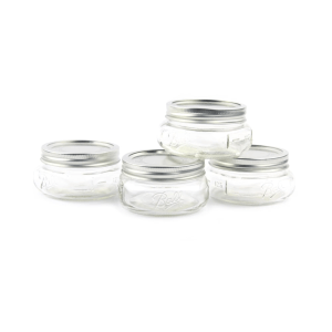 BALL SET TOPLES MASON PLATINUM HALF PINT 236 ML - 4 PCS
