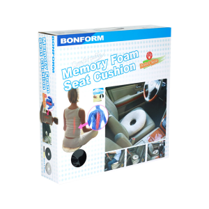 BONFORM BANTALAN DUDUK MOBIL MEMORY FOAM - HITAM