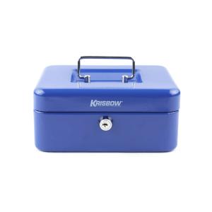 KRISBOW CASH BOX 20X16X9 CM - BIRU