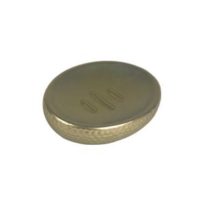 TEMPAT SABUN BATANG HAMMERED FINISH - GOLD
