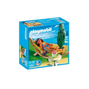 PLAYMOBIL SET MINIATUR HOLIDAYS WOMAN IN HAMMOCK