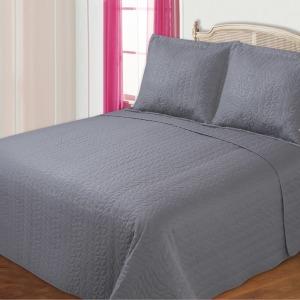 BED COVER MICROFIBER MOTIF DAUN 240X210CM