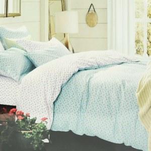 BED COVER SMALL FLOWER 240X210 CM - BIRU MUDA