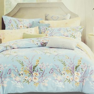 BED COVER DAISY 240X210 CM - BIRU