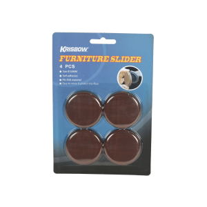 ALAS KAKI FURNITURE BULAT 5 CM 4 PCS - COKELAT