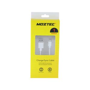 MOZTEC KABEL MICRO USB ANDROID 1 M - PUTIH
