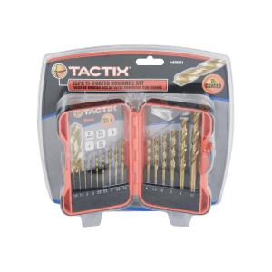 TACTIX SET MATA BOR STAINLESS STEEL HSS 15 PCS