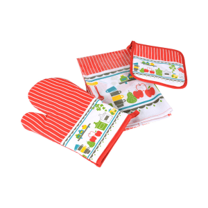 ARTHOME SET CELEMEK DAPUR MOTIF FUN KITCHEN  - 3 PCS