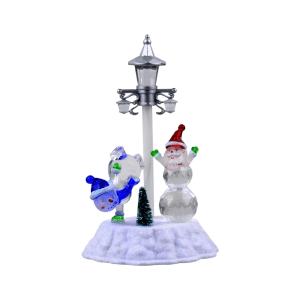 ARTHOME LAMPU NATAL LED TABLE TOP SANTA AND SNOWMAN
