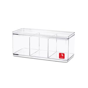 boxbox kotak penyimpanan 3 kompartemen - transparan