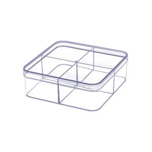BOXBOX KOTAK PENYIMPANAN TRANSPARAN 4 KOMPARTEMEN