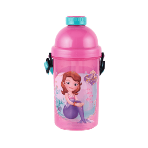 DISNEY SOFIA THE FIRST CANTEEN PUSH BOTOL MINUM 500 ML  - PINK