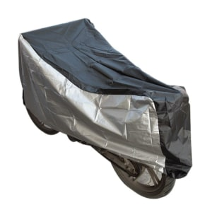PITSTOP COVER BODY MOTOR - SILVER/HITAM
