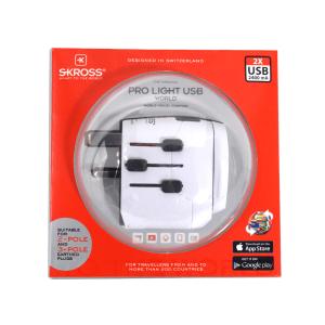 SKROSS TRAVEL ADAPTOR PRO LIGHT USB WORLD
